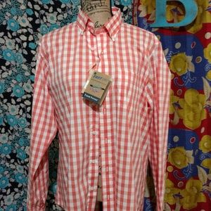 Tailor Vintage Mens Performance Button Down*NWT*